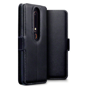 The Olixar genuine leather wallet case offers perfect protection for your Nokia 6 2018. Featuring premium stitch finishing, as well as featuring slots for your cards, cash and documents.