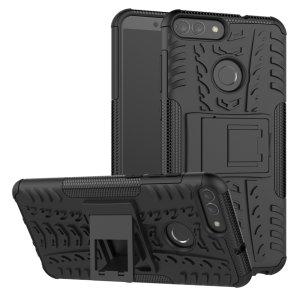 Protégez votre Huawei P Smart des chocs et des éraflures grâce à cette coque Olixar ArmourDillo en coloris noir. Cette coque est composée d'un boîtier interne en TPU et d'un exosquelette externe résistant aux impacts. Elle comprend par ailleurs un support de visualisation intégré.