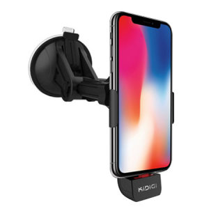 The perfect way to dock and charge your iPhone X safely with this Apple certifited car mount kit from Kidigi.