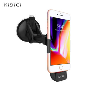 The perfect way to dock and charge your iPhone 8 / 8 Plus safely with this Apple certifited 'Made for iPhone' car mount kit from Kidigi.