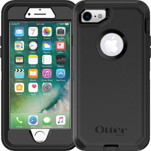 Protect your iPhone 7 with the toughest and most protective case on the market - the black OtterBox Defender Series. Fully compatible with force touch, you can continue to use all of your iPhone's features whilst keeping it fully protected.