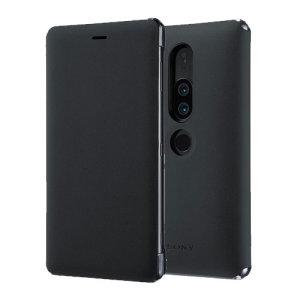 Cette superbe housse officielle Sony Xperia XZ2 Premium Style Cover avec support de visionnage en coloris noir vous permet de protéger avec élégance votre smartphone. D'excellente qualité et très fonctionnelle, elle intègre un rabat protecteur pouvant se transformer en un instant en support de visionnage.