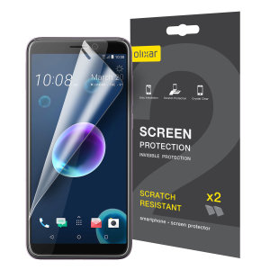 Keep your HTC Desire 12 screen in pristine condition with this Olixar scratch-resistant screen protector 2-in-1 pack.
