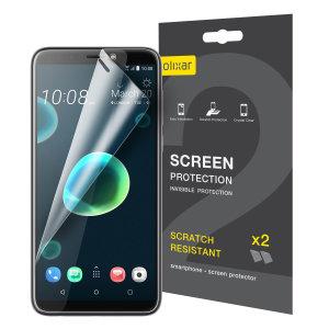Hold din HTC Desire 12 Plus skjerm i perfekt stand med denne Olixar ripebestandige skjermbeskytter 2-i-1 pakken.