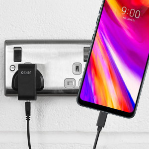 Charge your LG G7 and any other USB device quickly and conveniently with this compatible 2.5A high power USB-C UK charging kit. Featuring a UK wall adapter and USB-C cable.