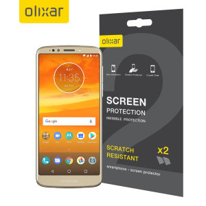 Keep your Motorola Moto E5 Plus's screen in pristine condition with this Olixar scratch-resistant screen protector 2-in-1 pack. Ultra responsive and easy to apply, these screen protectors are the ideal way to keep your display looking brand new.