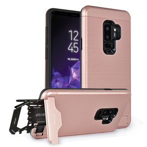 Prepare your Samsung Galaxy S9 Plus for the great outdoors with the rugged X-Ranger case in Rose Gold. With a handy kickstand and a secure compartment for the included multi-tool - or the card of your choice - you'll be ready for anything.