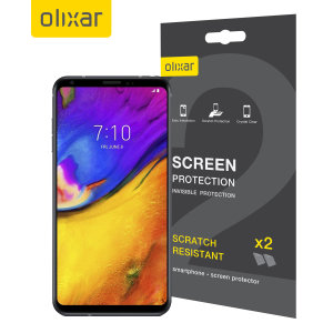 Keep your LG V35's screen in pristine condition with this Olixar scratch-resistant screen protector 2-in-1 pack. Ultra responsive and easy to apply, these screen protectors are the ideal way to keep your display looking brand new.