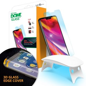 The Dome Glass screen protector for LG G7 from Whitestone uses a proprietary UV adhesive installation to ensure a total and perfect fit for your device. Also featuring 9H hardness for absolute protection, as well as 100% touch sensitivity retention.