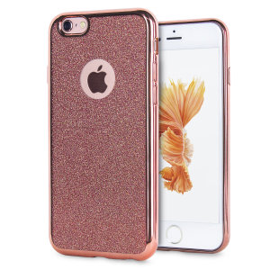 Custom moulded for the iPhone 6S, this Rose Gold Glitter gel case provides excellent, stylish protection against damage as well as a slimline fit for added convenience.
