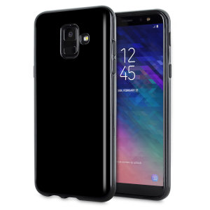 Custom moulded for the Samsung Galaxy A6 2018, this solid black FlexiShield case by Olixar provides slim fitting and durable protection against damage.