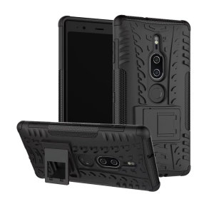 Protect your Sony Xperia XZ2 Premium from bumps and scrapes with this black ArmourDillo case. Comprised of an inner TPU case and an outer impact-resistant exoskeleton, the Armourdillo offers sturdy and robust protection.