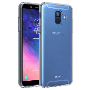 Custom moulded for the Samsung Galaxy A6 2018, this crystal clear Olixar ExoShield tough case provides a slim fitting, stylish design and reinforced corner protection against shock damage, keeping your device looking great at all times.