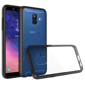 Custom moulded for the Samsung Galaxy A6 2018, this black Olixar ExoShield tough case provides a slim fitting, stylish design and reinforced corner protection against shock damage, keeping your device looking great at all times.