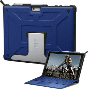 The UAG Metropolis series Rugged Folio Case in blue keeps your Microsoft Surface Pro 2017 protected with a lightweight, but highly protective honeycomb composite interior, with a tougher outer case, ensuring the perfect combination of style and security.