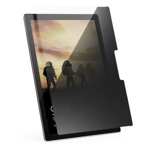 This tough 9H screen protector from UAG offers a high level of protection against screen cracks and scratches for the Microsoft Surface Pro 3. Featuring tinted privacy film and oleophobic anti-fingerprint coating to keep your screen clean.