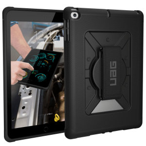 Equip your iPad 9.7 2018 with military-grade protection with the Metropolis Rugged case with Hand Strap in black from UAG. Impact & water resistant and including a 360-degree hand strap for extra grip, this is the ideal way of protecting your iPad.