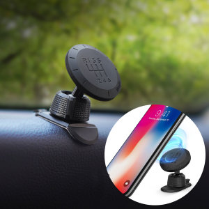 Dock your smartphone effortlessly thanks to the Rearth Ringke Magnetic Gear Car Mount Holder. Extremely easy to install and fully case compatible with two including magnetic plates. Also features a classic 'gear shift' design.