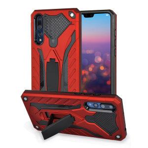 Protégez intégralement votre Huawei P20 Pro des rayures, des éraflures et autres dommages à l'aide de la coque Olixar Raptor ultra-robuste en coloris rouge. Dotée d'un design militaire sophistiqué et d'une béquille de visualisation, elle offre une protection optimale et polyvalente à votre Huawei P20 Pro. Une fois équipée, votre smartphone est protégé et dispose d'un look formidable.
