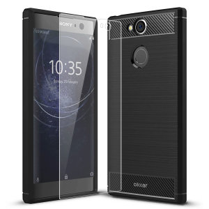 Flexible rugged casing with a premium matte finish non-slip carbon fibre and brushed metal design, the Olixar Sentinel case in black keeps your Sony Xperia XA2 protected from 360 degrees with the added bonus of a tempered glass screen protector.