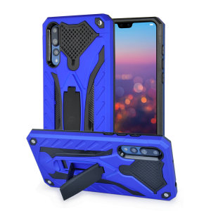 Fully protect your Huawei P20 Pro from scratches and scrapes with the Raptor tough stand case in cobalt blue by Olixar. With a sleek military design, rugged protection and included kick stand, your P20 Pro will stay safe while looking formidable.