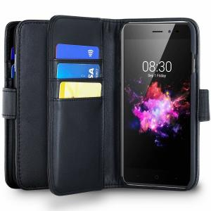 Protect your Neffos N1 with this durable and stylish black leather-style wallet case by Olixar. What's more, this case transforms into a handy stand to view media.