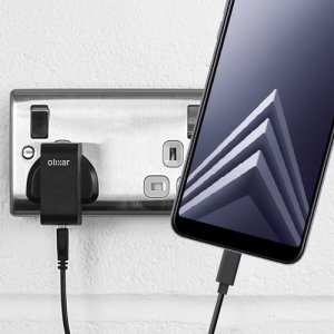 Charge your Samsung Galaxy A6 Plus 2018 quickly and conveniently with this compatible 2.5A high power charging kit. Featuring mains adapter and USB cable.