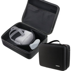 This Oculus Go carry case from Navitech provides ample protection for your Oculus Go. With enough room to fit all of your Oculus Go accessories and an included shoulder strap for easy transport, this bag has everything you need.