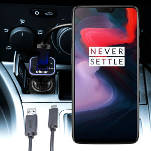 Keep your OnePlus 6 fully charged on the road with this compatible Olixar high power dual USB 3.1A Car Charger with an included high quality USB to USB-C charging cable.