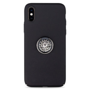 Custom made for the iPhone X / XS, this black diamond ring case from LoveCases provides excellent protection and a handy finger loop to keep your phone in your hand, whether from accidental drops or attempted theft.