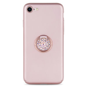 Custom made for the iPhone 8 / 7, this rose gold diamond ring case from LoveCases provides excellent protection and a handy finger loop to keep your phone in your hand, whether from accidental drops or attempted theft.