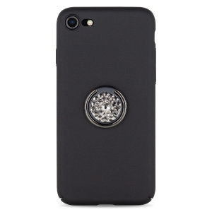 Custom made for the iPhone 8 / 7, this black diamond ring case from LoveCases provides excellent protection and a handy finger loop to keep your phone in your hand, whether from accidental drops or attempted theft.df