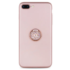 Custom made for the iPhone 8 / 7 plus, this rose gold diamond ring case from LoveCases provides excellent protection and a handy finger loop to keep your phone in your hand, whether from accidental drops or attempted theft as well as doubling as a stand.