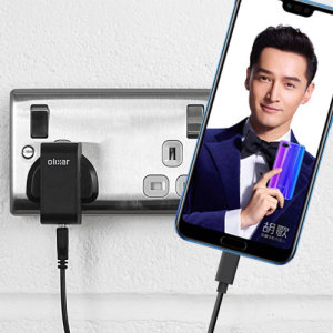 Charge your Huawei Honor 10 and any other USB device quickly and conveniently with this compatible 2.4A high power USB-C UK charging kit. Featuring a UK wall adapter and USB-C cable.