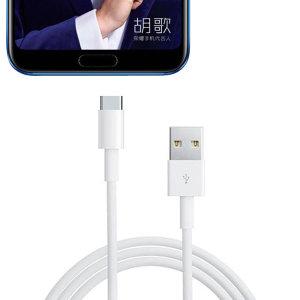 Synkronisera och ladda din Huawei Honor 10 med denna officiella Huawei Premium USB-C-kabel med 1 meter längd.