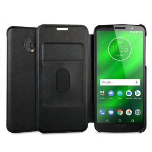 This official flip case in grey for the Motorola Moto G6 shields your device from knocks, scrapes and scratches while adding virtually no bulk.