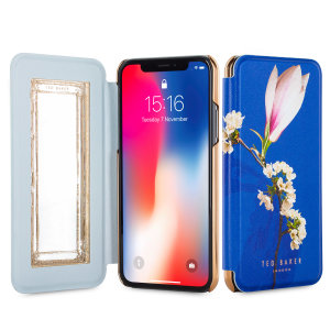 Ever wanted to check how you're looking on the move? With the Ted Baker Layyli Mirror Folio case for iPhone X, you can do just that thanks to a concealed mirror on the inside of the case's flip cover. This slimline case also offers excellent protection.