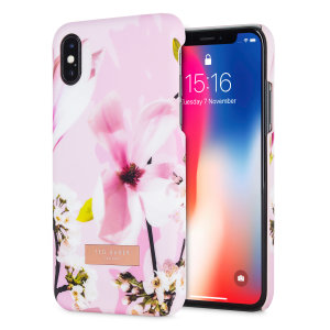 Form-fitting and bulk-free, this Zoeni case in Fairy Tale Pink for iPhone X from Ted Baker sports an ethereal, otherworldly floral aesthetic while also offering superlative protection for your device from scratches, scrapes and other surface damage.