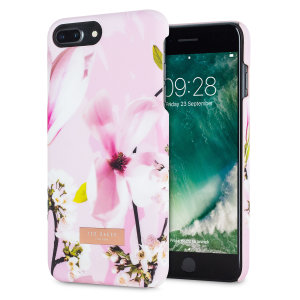 Form-fitting and bulk-free, this Dorsao case in Fairy Tale Pink for iPhone 7 Plus from Ted Baker sports an ethereal, otherworldly floral aesthetic while also offering superlative protection for your device from scratches, scrapes and other surface damage.