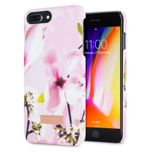 Form-fitting and bulk-free, this Dorsao case in Fairy Tale Pink for iPhone 8 Plus from Ted Baker sports an ethereal, otherworldly floral aesthetic while also offering superlative protection for your device from scratches, scrapes and other surface damage.