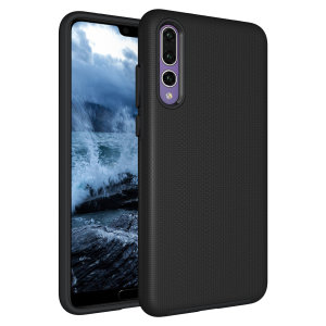 The Eiger North Dual Layer Protective Case in black is a hybrid ergonomic protective case for the Huawei P20 Pro, providing fantastic protection without adding excessive bulk.