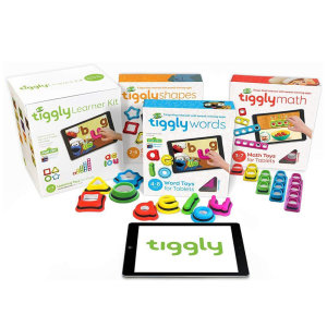 Tiggly 3-in-1 Learner Kit is a set of interactive toys and apps for children aged 2-8, designed to bring shapes, letters and words to life. It's compatible with both Apple and Android tablets and doesn't require Wi-fi, batteries or Bluetooth.