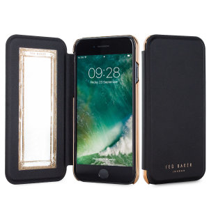 Ever wanted to check how you're looking on the go? With the Ted Baker Shannon Mirror Folio case for iPhone 7, you can do just that thanks to a concealed mirror on the inside of the case's flip cover. This slimline case also offers excellent protection.