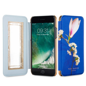 Ever wanted to check how you're looking on the go? With the Ted Baker Bryony Mirror Folio case in a Harmony Mineral styling for the iPhone 7, you can do just that thanks to a concealed mirror on the inside of the case's flip cover.