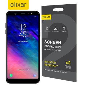 Protégez et maintenez l'écran de votre Samsung Galaxy A6 Plus en parfait état grâce au film protecteur anti-rayures Olixar. Ce pack comprend 2 protections d'écran Samsung Galaxy A6 Plus.