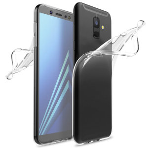 Olixar FlexiCover Full Body Samsung Galaxy A6 2018 Gel Case - Clear