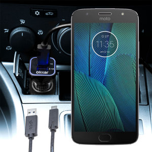 Keep your Motorola Moto G5S Plus fully charged on the road with this compatible Olixar high power dual USB 3.1A Car Charger with an included high quality USB to Micro-USB charging cable.