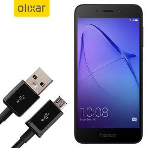 This 1 meter data / charging cable from Olixar allows you to connect your Huawei Honor 6A to a PC via Micro USB. It supports charging currents over 2 amps, so your Huawei Honor 6A can be up and running from flat in no time.