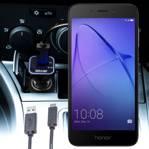 Keep your Huawei Honor 6A fully charged on the road with this compatible Olixar high power dual USB 3.1A Car Charger with an included high quality USB to Micro-USB charging cable.