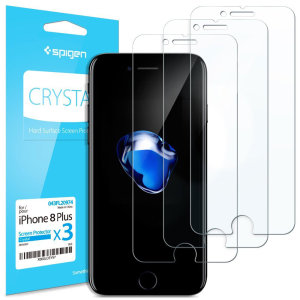 Designed to provide superb clarity and substantial protection for the iPhone 8 Plus against knocks, cracks and scratches. This Spigen Crystal Screen Protector for the iPhone 8 Plus comes in a 3 pack, making it a very cost effective protective measure.